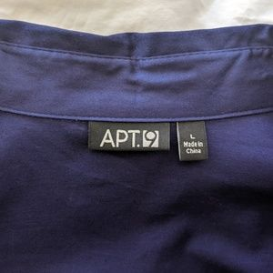 Apt. 9 Tops - Apt. 9 Wrap Style Shirt Sapphire Blue Large